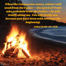 Michigan Conference of The United Methodist Church - #miumc #umc  #dailydevotions Image text: When the Companion comes, whom I will send from  the Father—the Spirit of Truth who proceeds from the Father—he